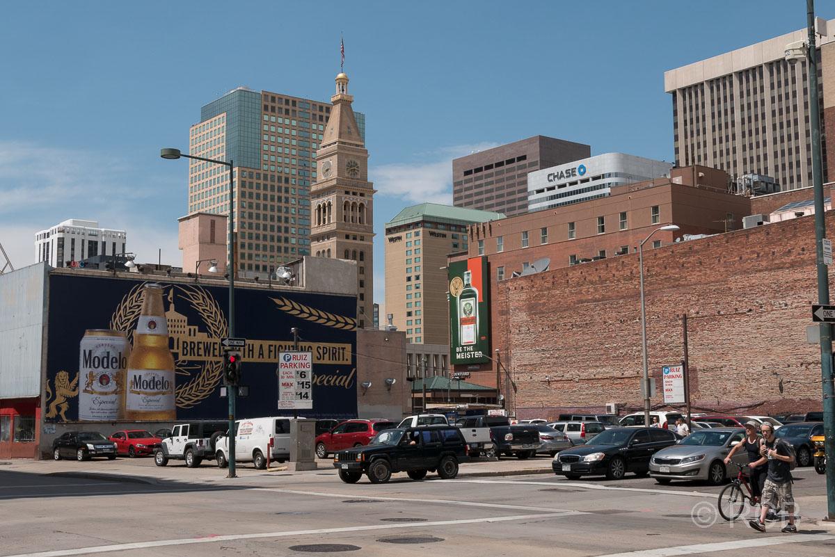 Downtown Denver, Blick zum Daniels & Fisher Tower