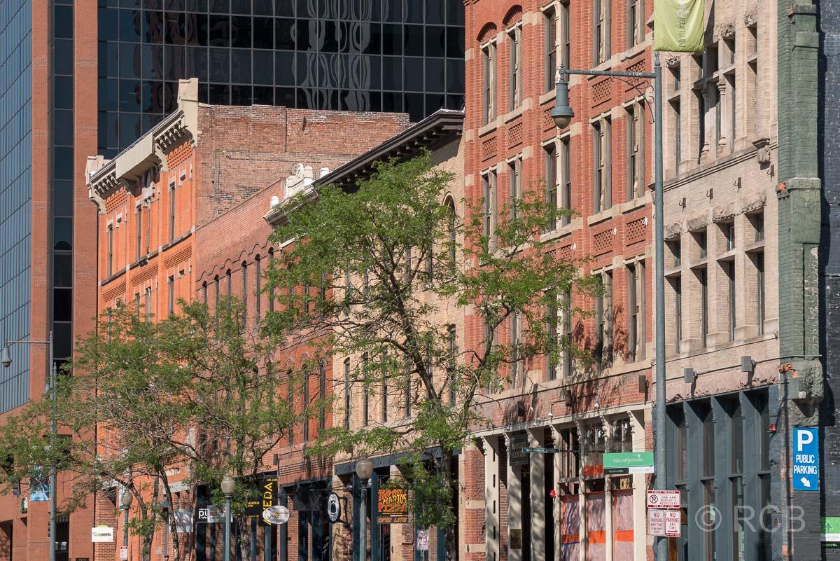 Häuserfront in Denver