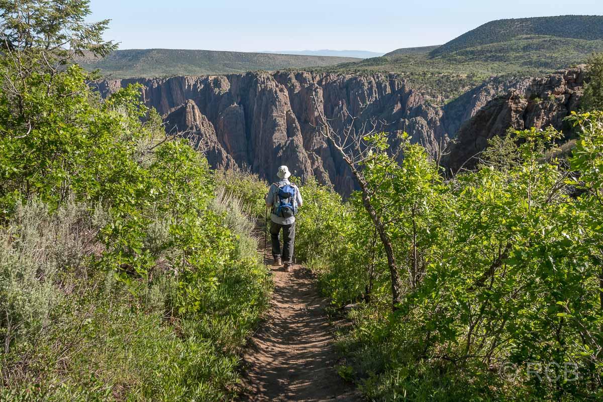 Mann auf Oak Flats Trail