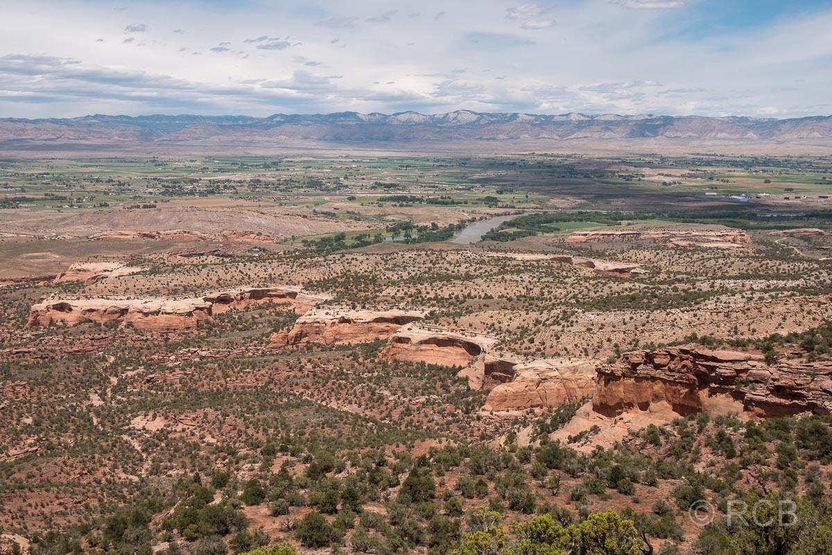 Ausblick über die Landschaft beim Rattlesnake Canyon