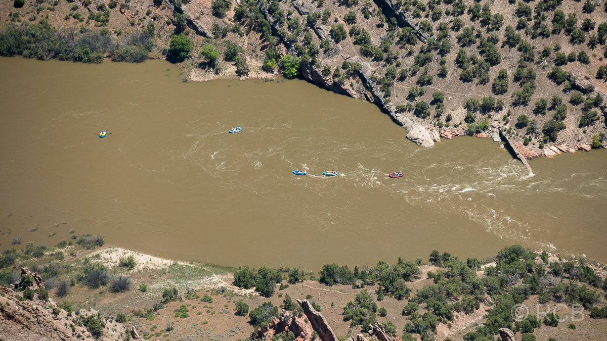 River Rafts auf dem Green River