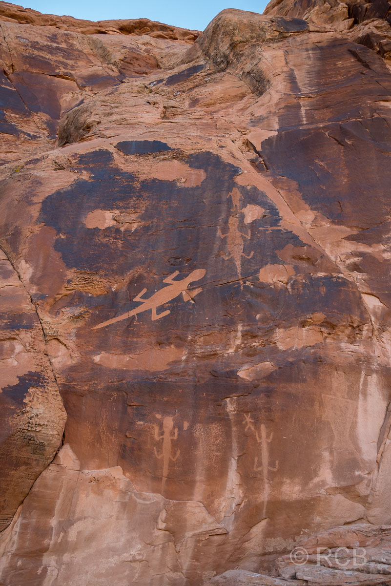 Petroglyphen am Cub Creek