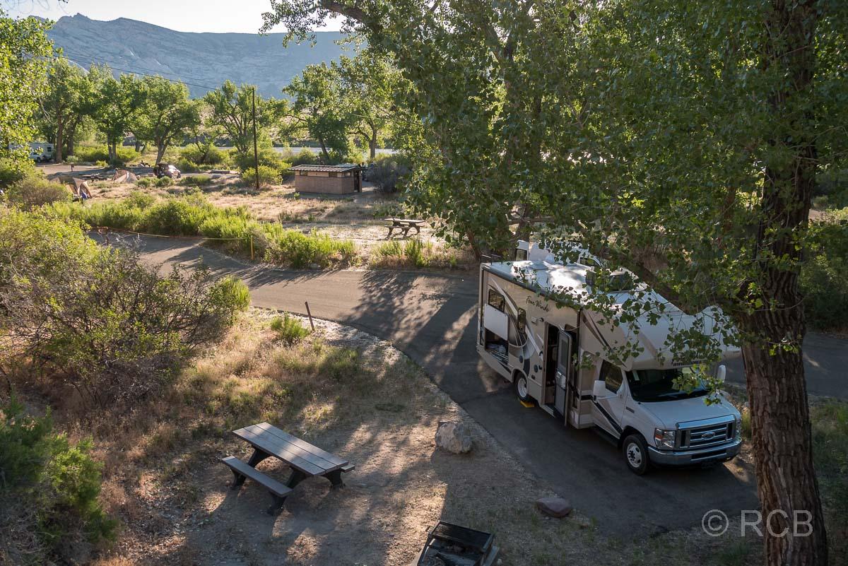 Wohnmobil auf dem Green River Campground