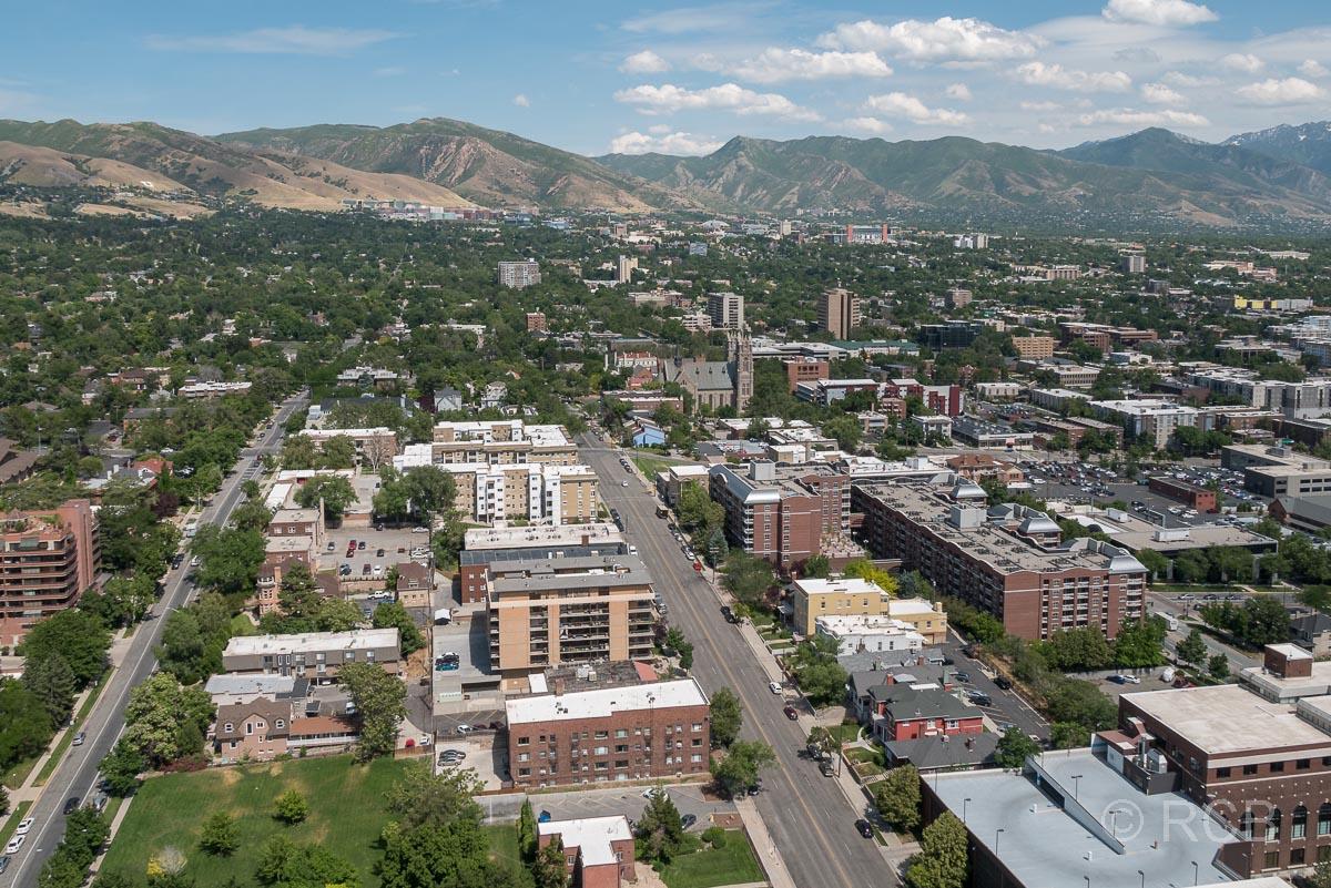 Ausblick vom LDS-Building nach Osten