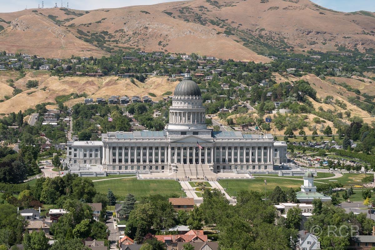 Blick vom LDS-Building zum Capitol