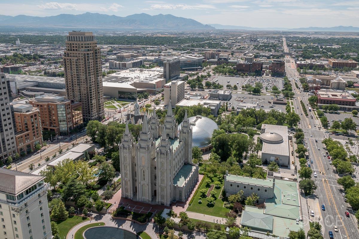 Blick vom LDS-Building nach Westen über den Temple Square