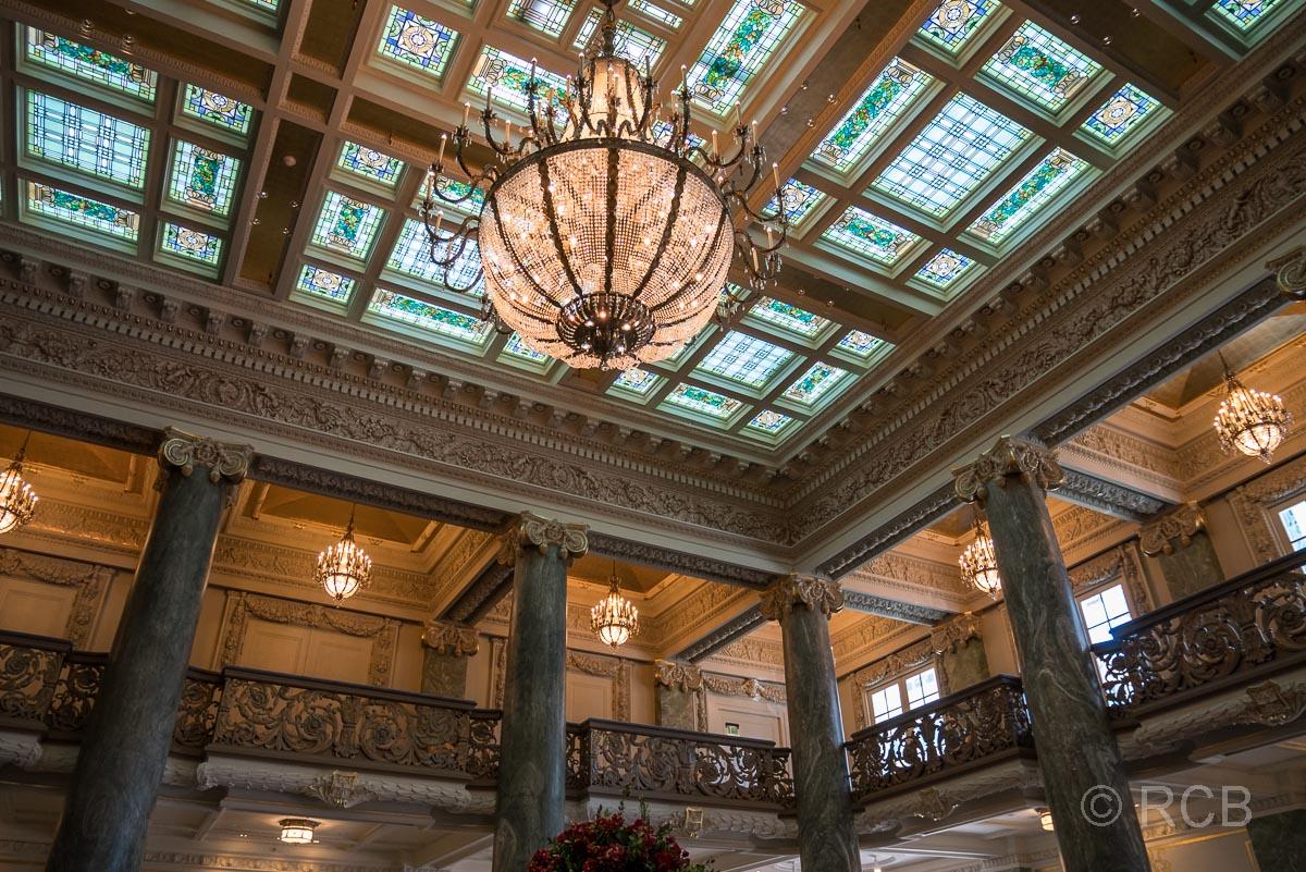 Glasdecke im im Joseph Smith Memorial Building, Salt Lake City