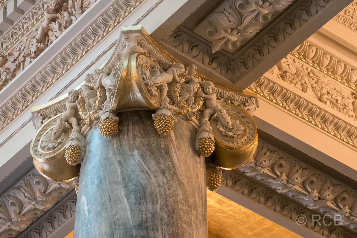 Kapitell mit Ananas im Joseph Smith Memorial Building, Salt Lake City