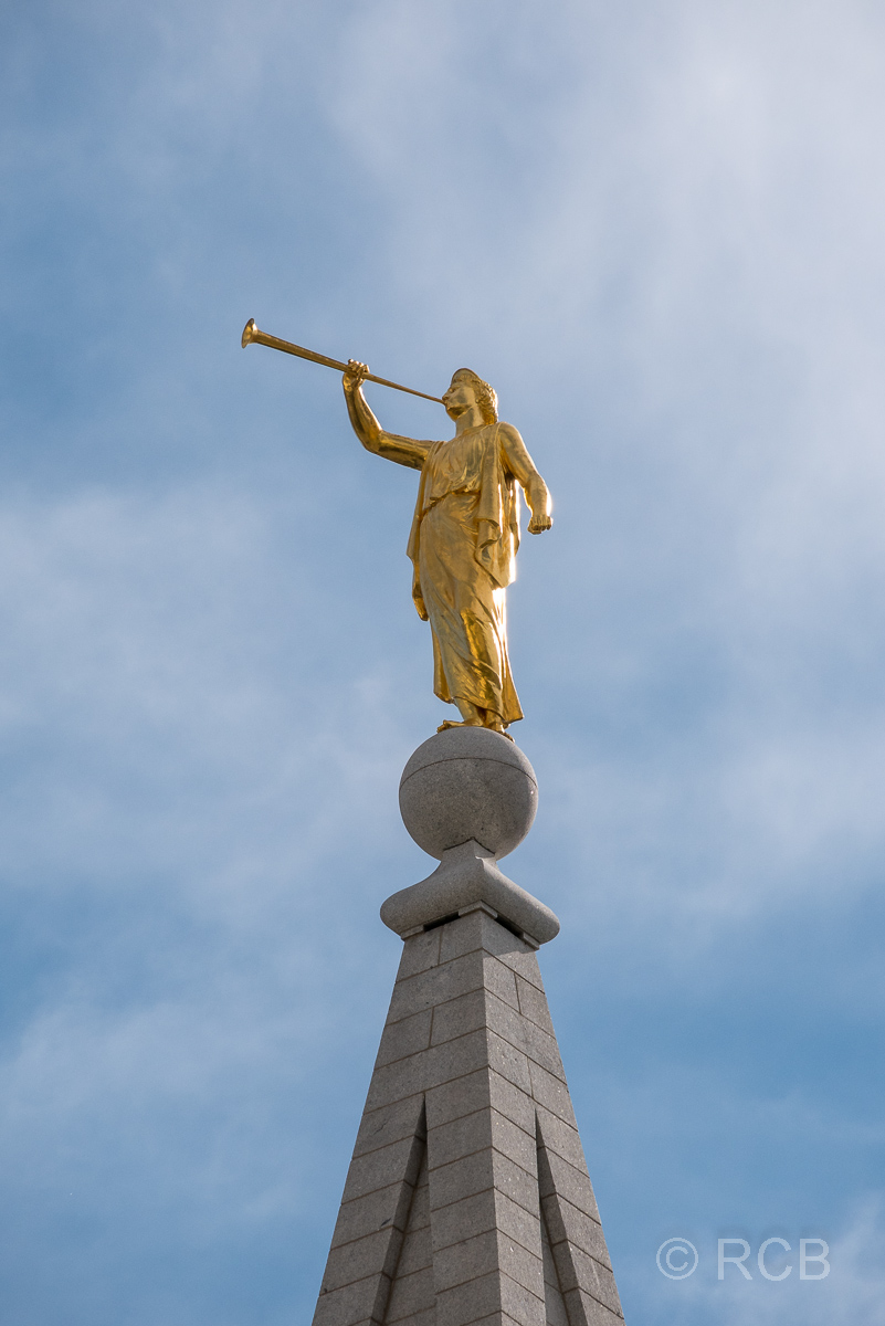 Engel Moroni auf der Spitze des Salt Lake Temple