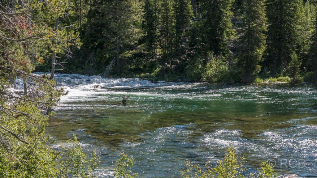 Fliegenfischer, Jenny Lake Trail, Grand Teton NP