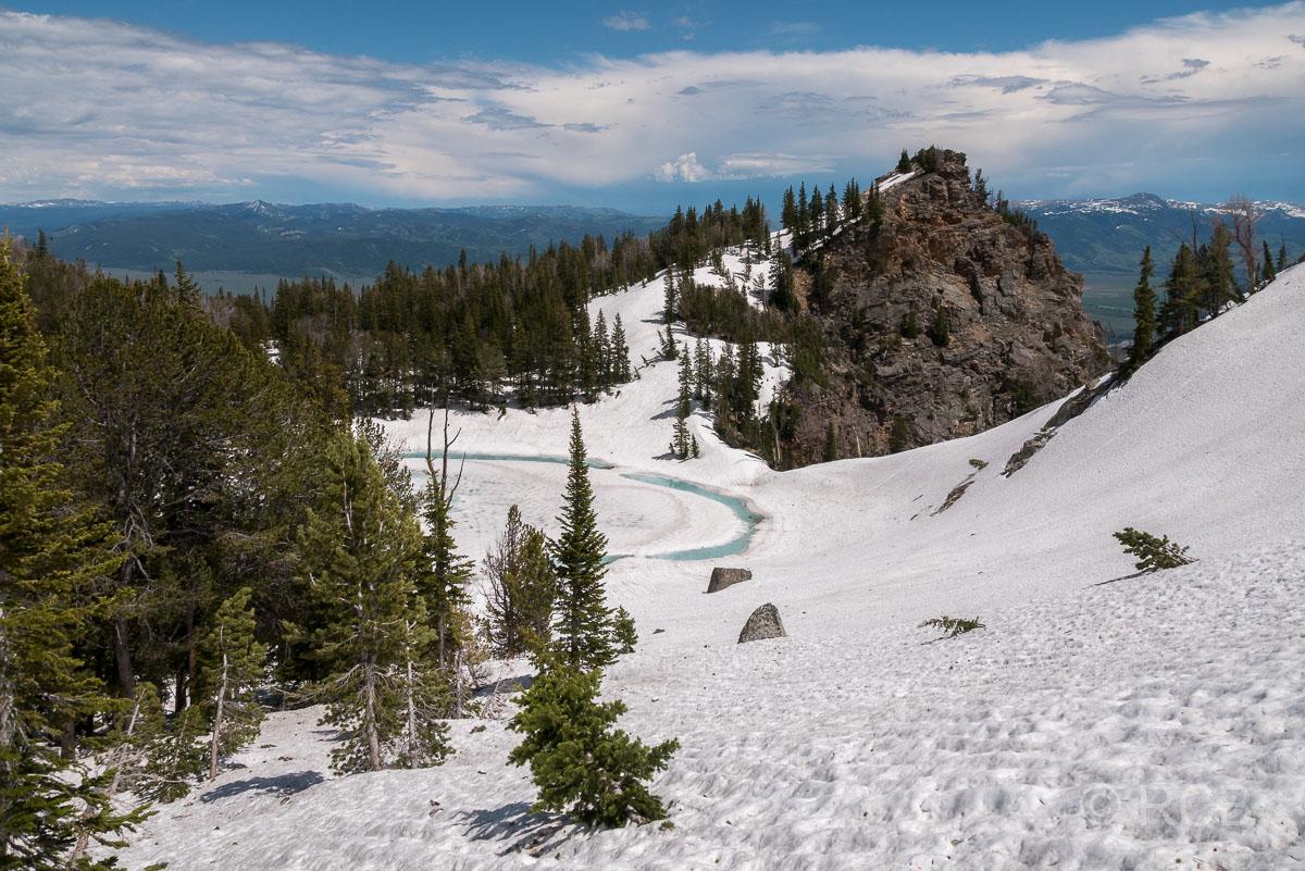 Blick auf den Surprise Lake, Grand Teton NP