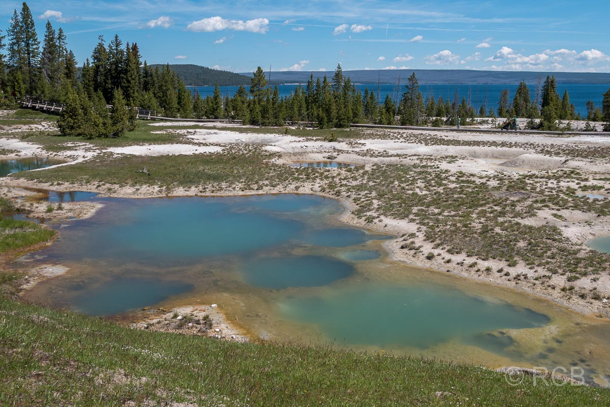 West Thumb Basin und Yellowstone Lake, Yellowstone NP