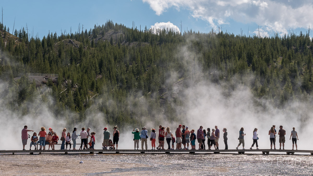 Midway Geyser Basin: Grand Prismatic Spring, Yellowstone NP
