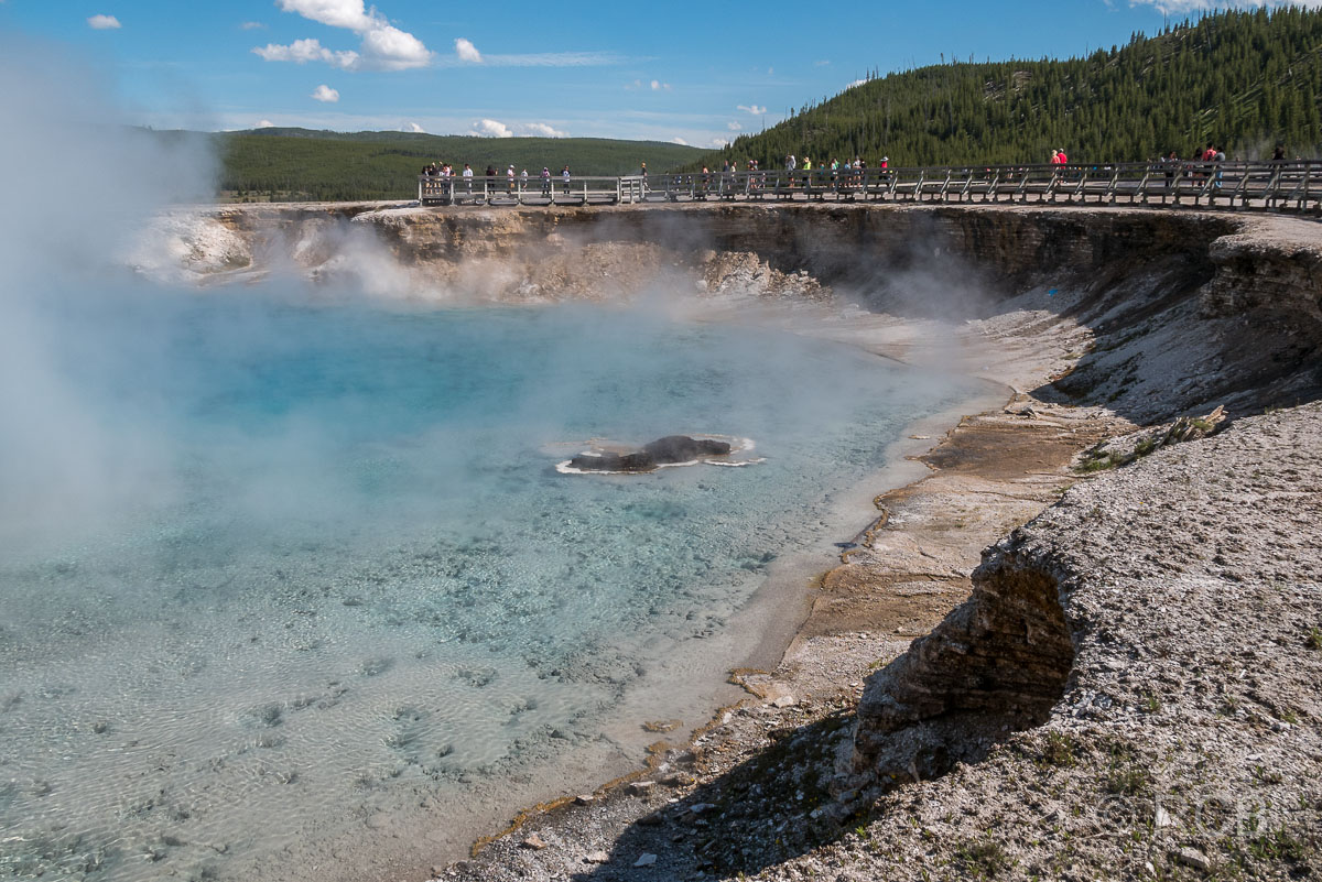 Midway Geyser Basin: Excelsior Geyser Crater, Yellowstone NP