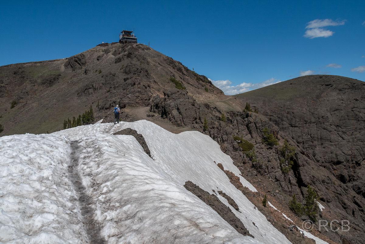 Mount Washburn Trail, kurz unterhalb des Gipfels, Yellowstone NP