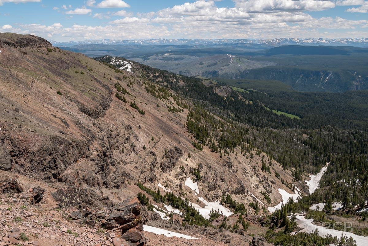 Mount Washburn Trail, Blick nach Osten, Yellowstone NP