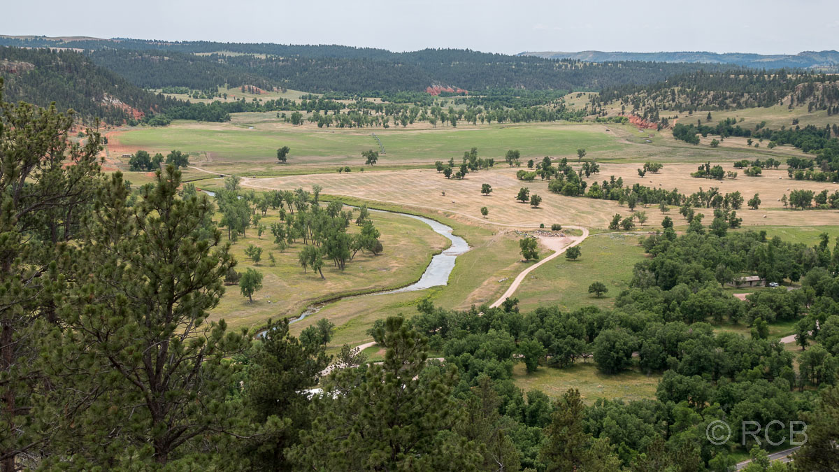 Red Beds Trail, Blick in das Tal des Belle Fourche Rivers, Devils Tower NM