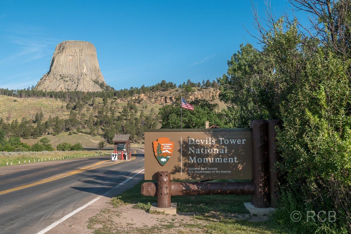 Einfahrt zum Devils Tower National Monument