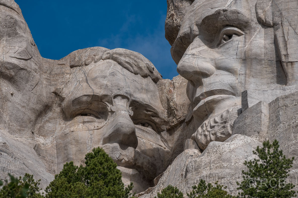 Theodore Roosevelt und Abraham Lincoln, Mount Rushmore NM