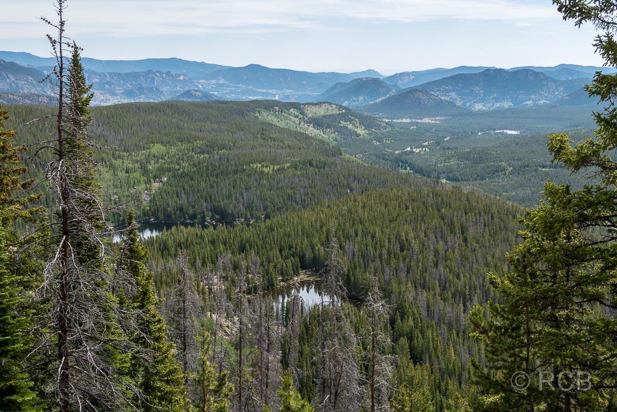 Blick auf Nymph Lake und Bear Lake, Rocky Mountain NP