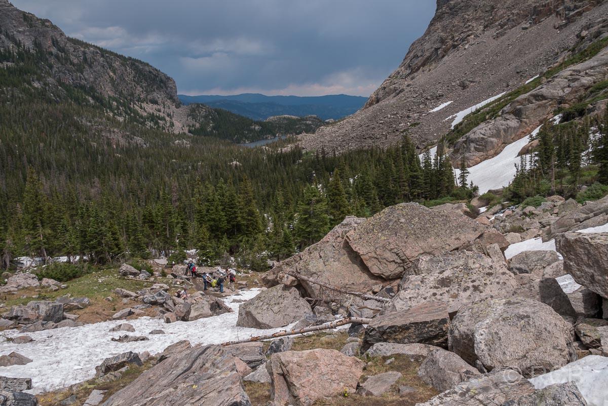 Rückblick Richtung The Loch, Rocky Moutain NP