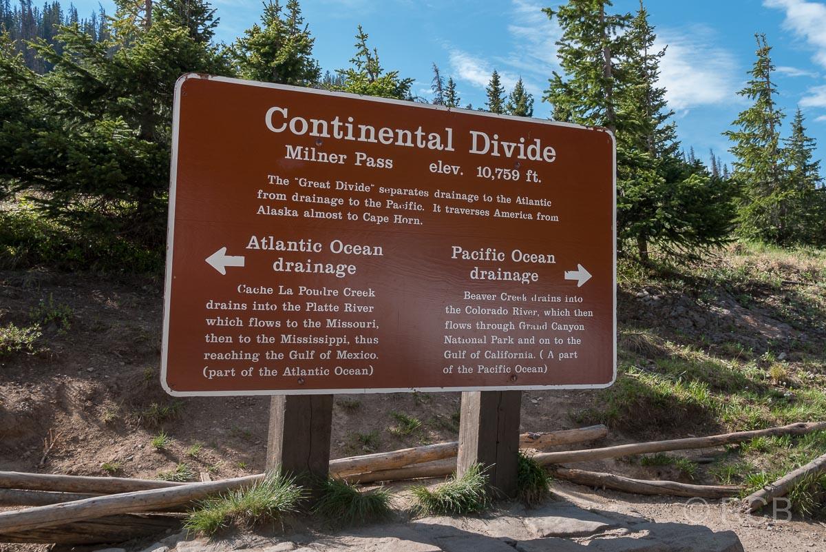 Continental Divide, die Wasserscheide zwischen Atlantik und Pazifik, Rocky Mountain NP