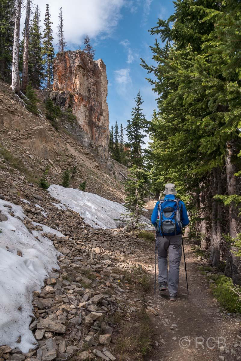 Mann auf dem Mount Ida Trail, Rocky Mountain NP