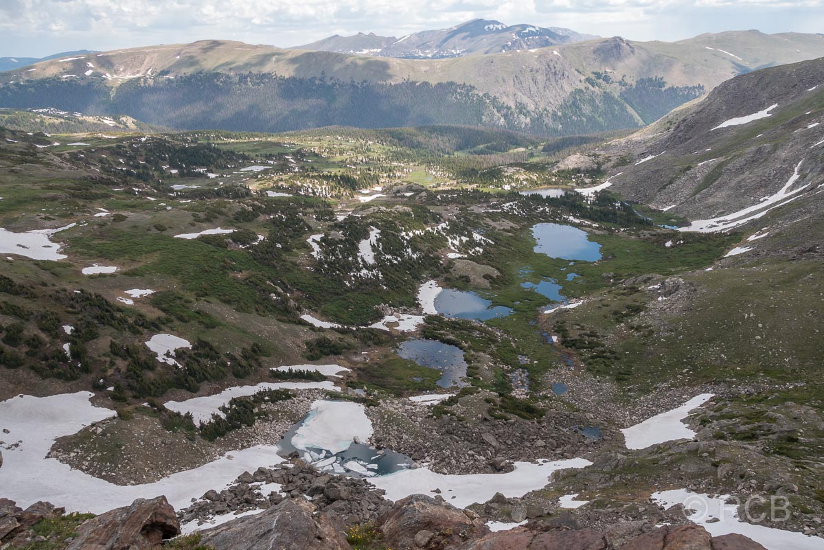 Mount Ida Trail, Blick Richtung Nordost, Rocky Mountain NP