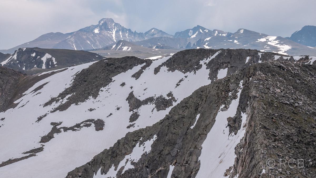 Blick vom Mount Ida zum Longs Peak, Rocky Mountain NP
