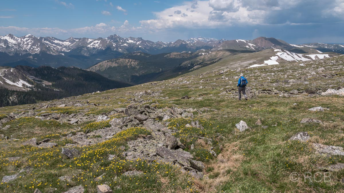 Mount Ida Trail, im Hintergrund die Never Summer Mountains, Rocky Mountain NP