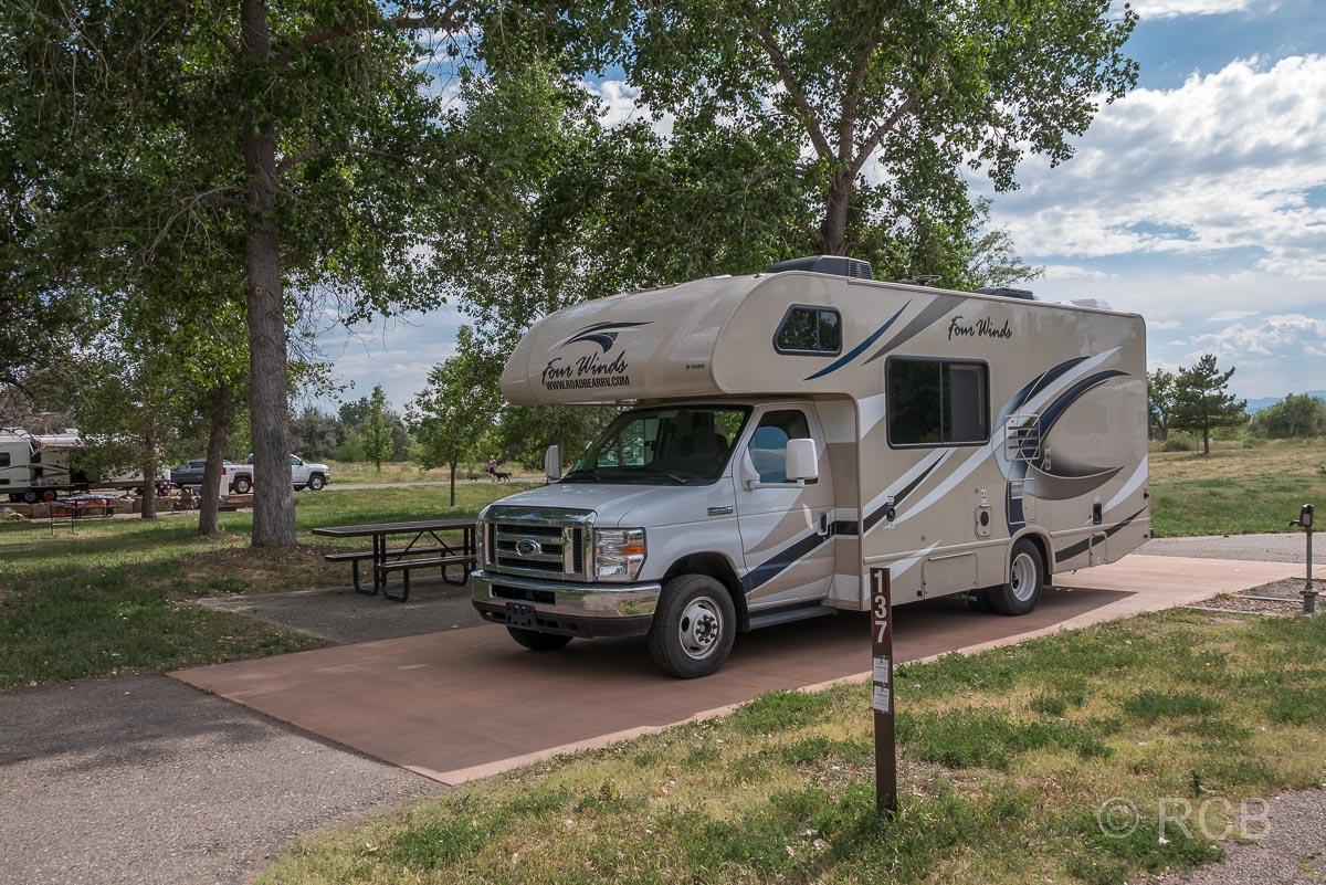 Wohnmobil auf dem Cherry Creek State Park Campground