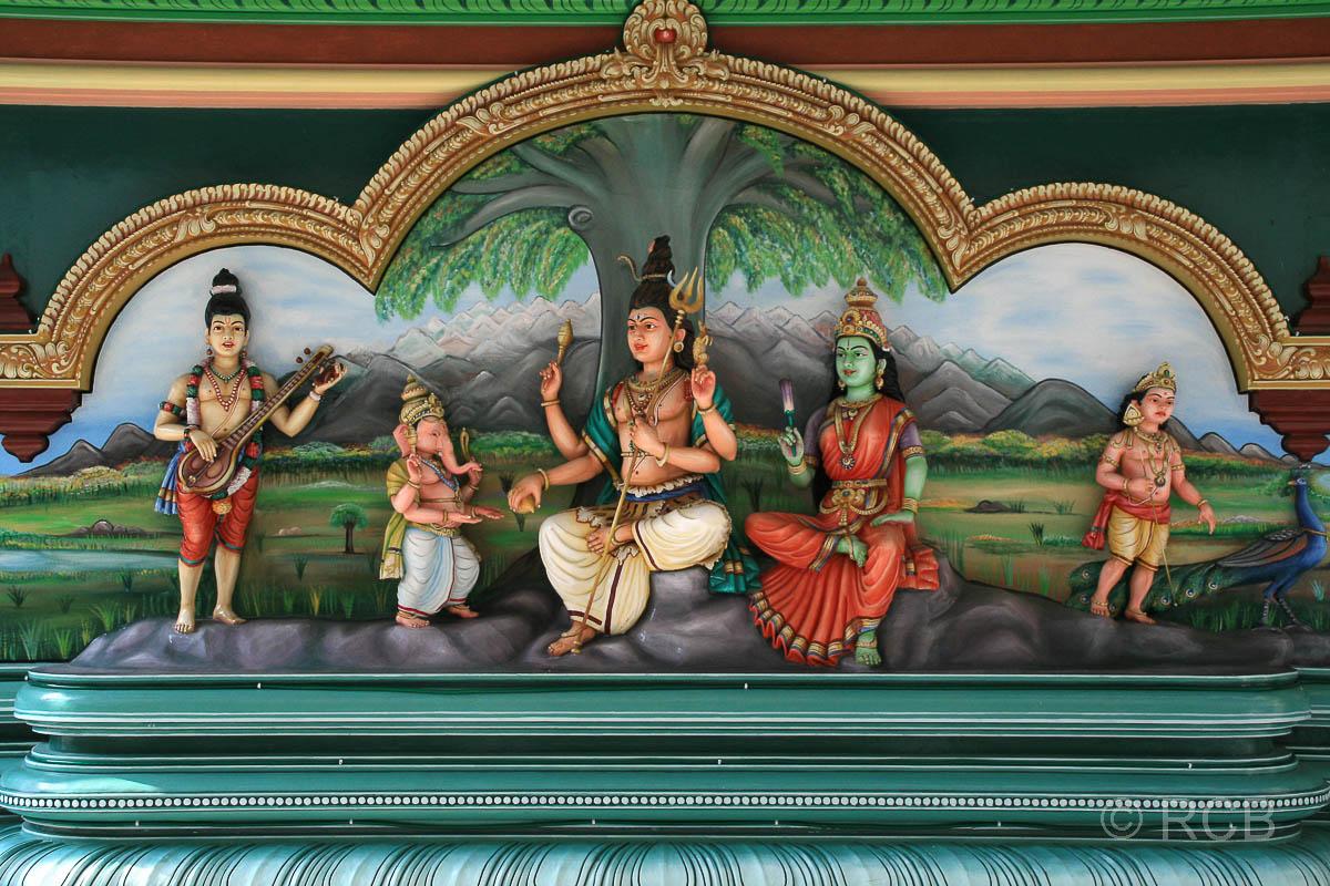 Götterbilder im Sri Mahamariamman-Tempel