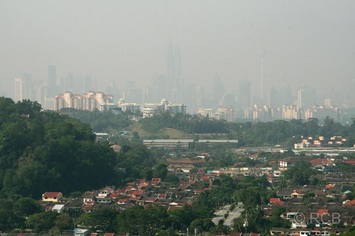 Ausblick von der Klang Gate Ridge auf Kuala Lumpur