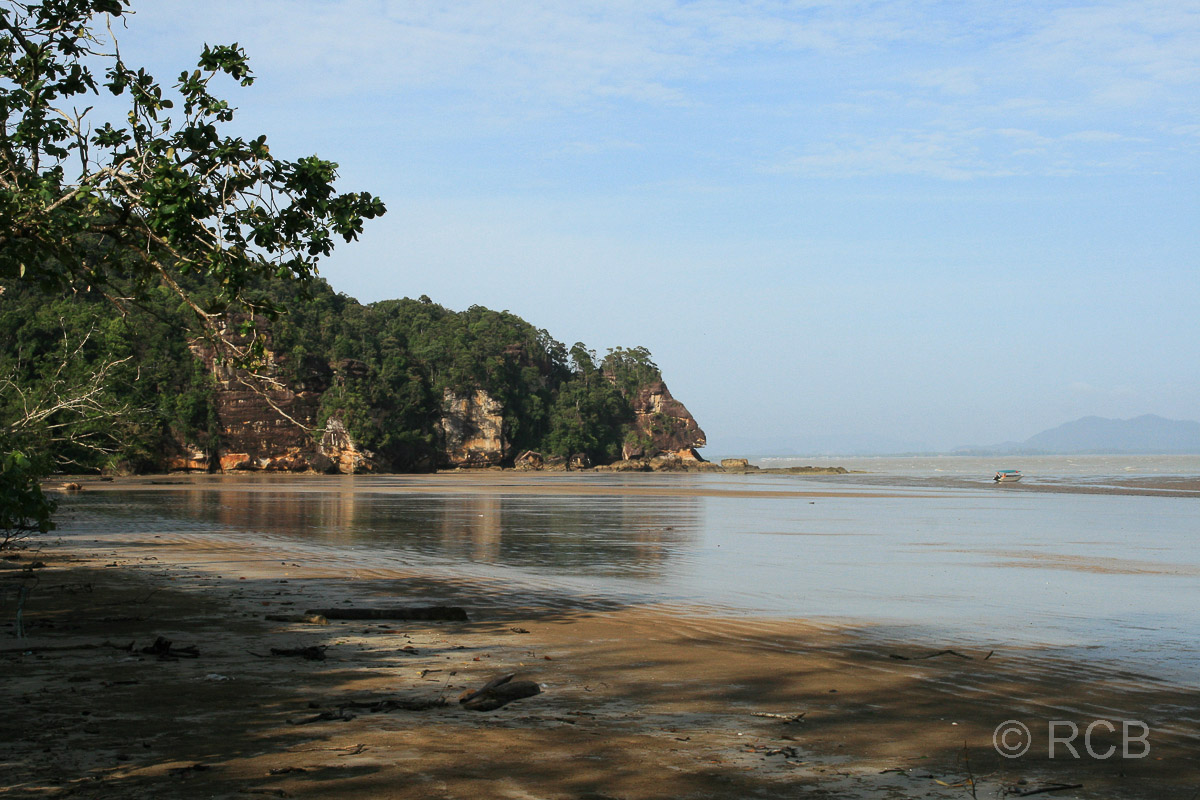 die Bucht Teluk Assam, Bako Nationalpark