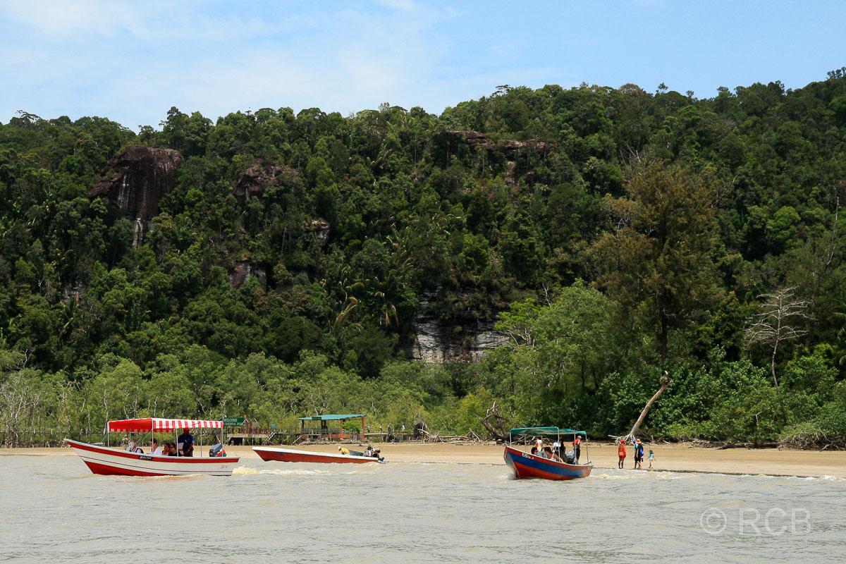Bootsanleger am Teluk Assam, Bako Nationalpark