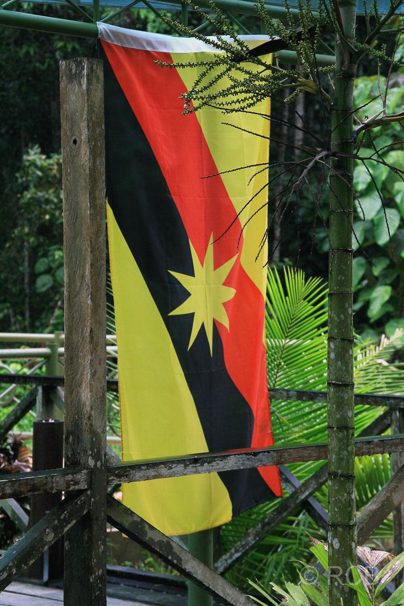Nationalflagge des Bundesstaates Sarawak