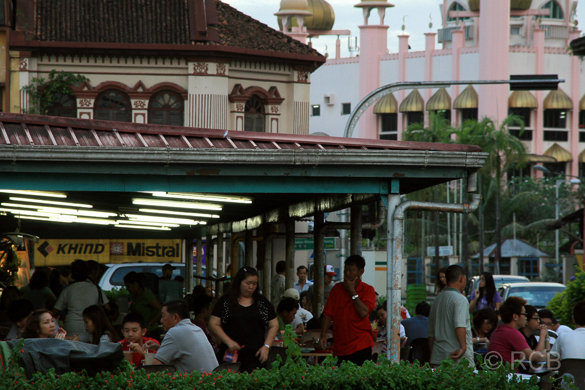 Straßenszene in Kuching