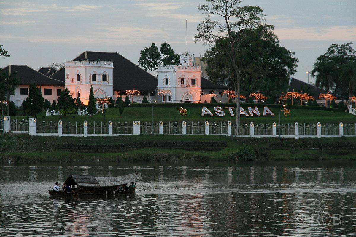 Astana, heute Residenz des Gouverneurs von Sarawak, Kuching