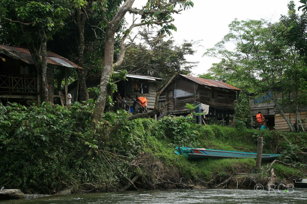 Penandorf am Ufer des Sungai Melinau, Mulu Nationalpark