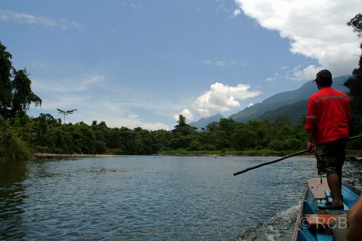 Bootsfahrt auf dem Sungau Melinau, Mulu Nationalpark