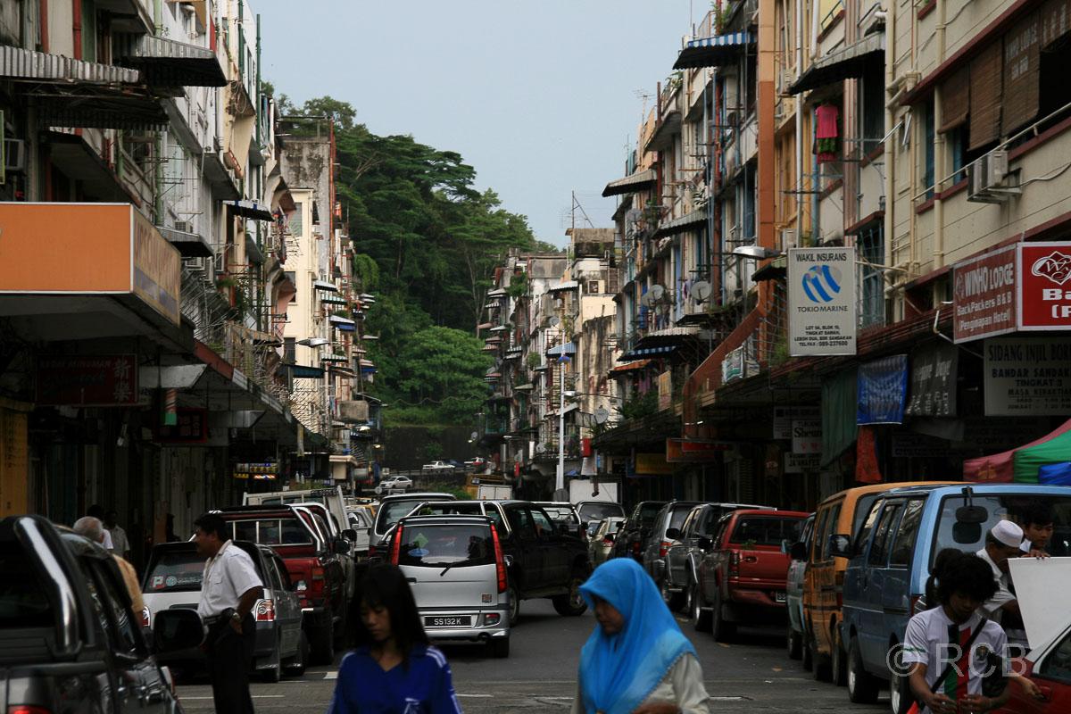 Straßenszene in Sandakan