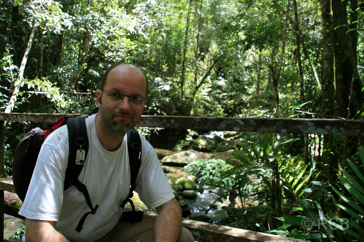 Mann am Silau Silau Trail, Kinabalu National Park
