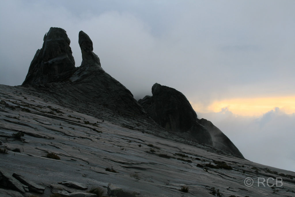 Gipfelplateau des Mt. Kinabalu mit Donkey's Ears