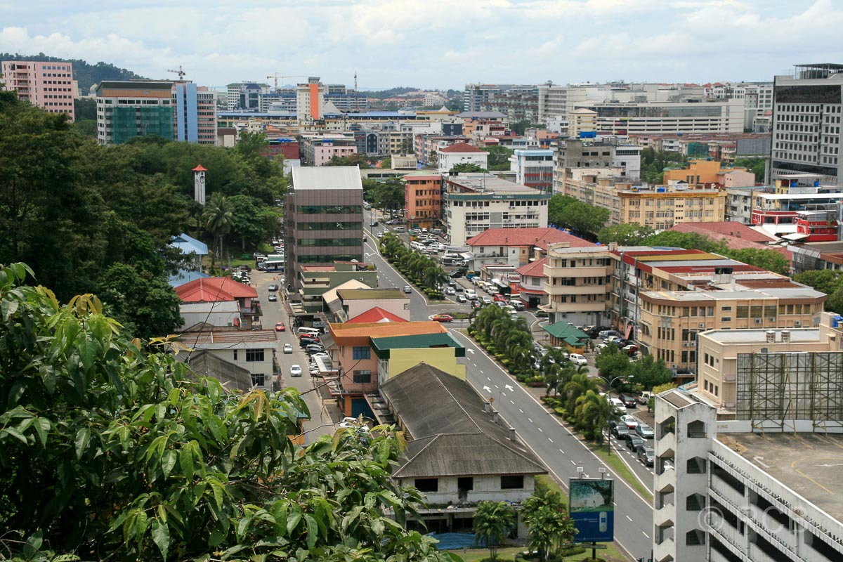 Ausblick vom Signal Hill, Kota Kinabalu