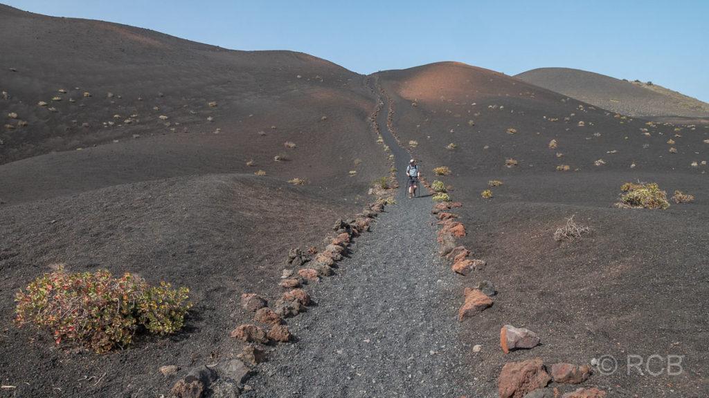 Abstieg vom Vulkan Teneguía