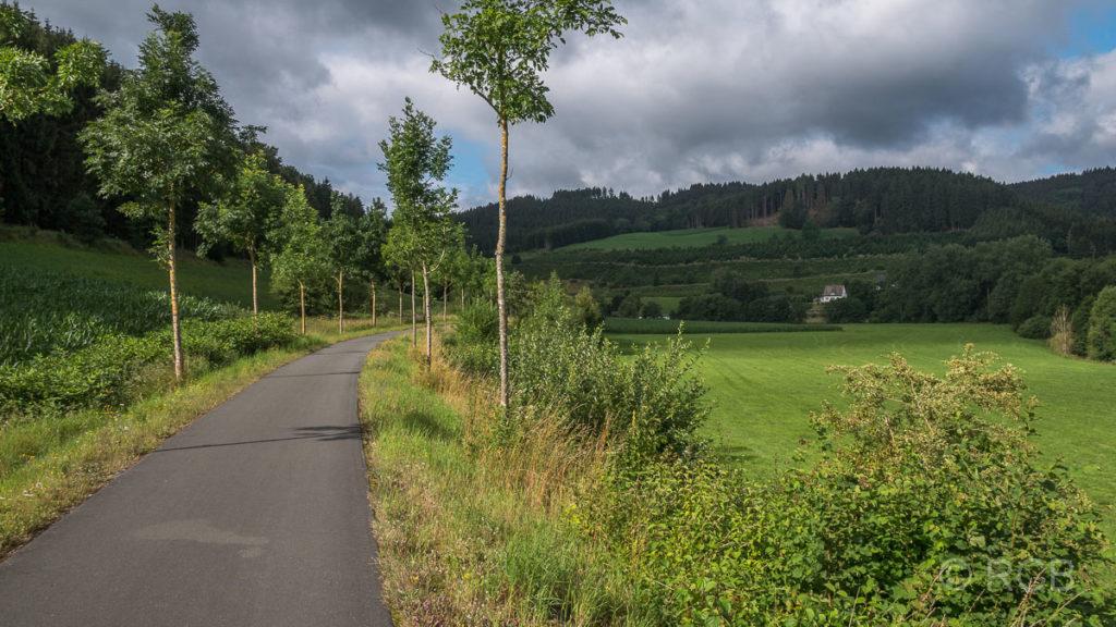 Bahntrasse auf dem SauerlandRadring