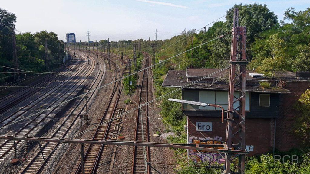 Bahngleise Richtung Essen Hauptbahnhof