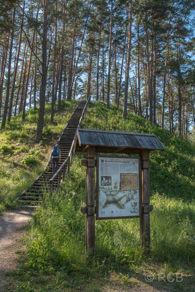Aukštaitija NP, Ginučiai-Hügel mit ehem. Fort