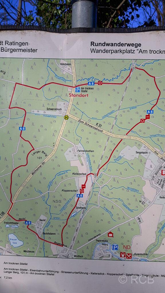 Wanderweg A8 bei Ratingen