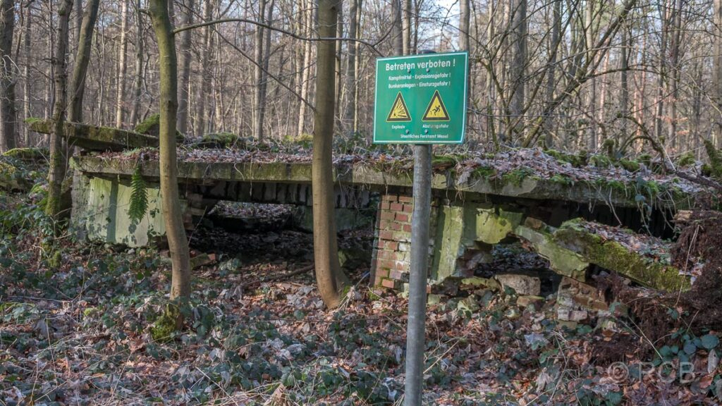 Ruinen der ehemaligen Luftmunitionsanstalt in der Hees bei Xanten